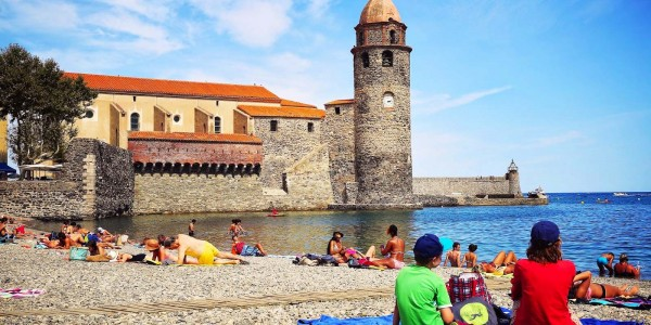 Collioure picturesque and calm, shallow beach perfect for little ones